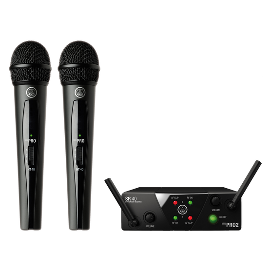 WMS40 Mini Dual Vocal Set - Black - Wireless microphone system - Hero