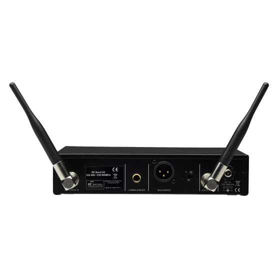 SR470 Band-8 - Black - Professional wireless stationary receiver - Back