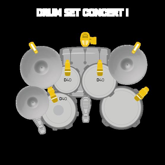 Drum Set Concert I - Black - Professional drum microphone set - Detailshot 1