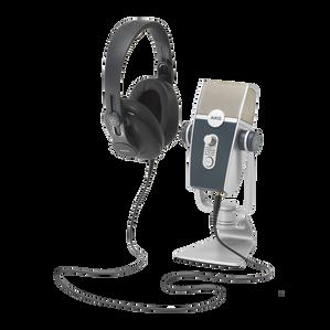 AKG Podcaster Essentials - Black / Gray - Audio Production Toolkit: AKG Lyra USB Microphone and AKG K371 Headphones - Hero