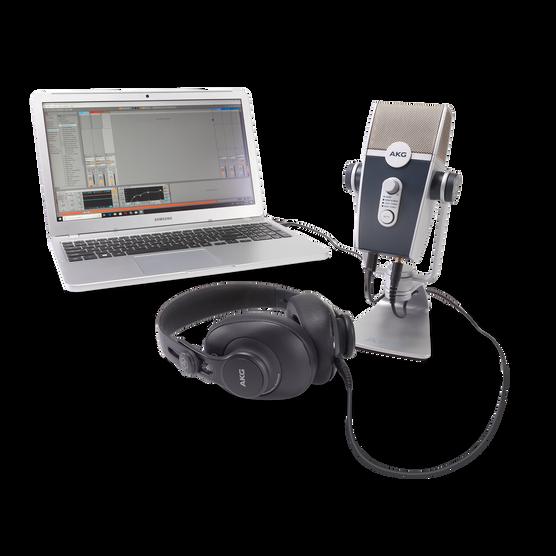 AKG Podcaster Essentials - Black / Gray - Audio Production Toolkit: AKG Lyra USB Microphone and AKG K371 Headphones - Detailshot 2