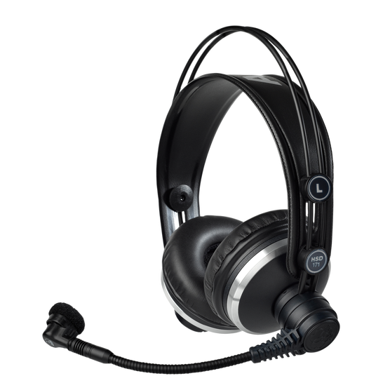 HSD171 - Black - Professional on-ear headset with dynamic microphone - Hero