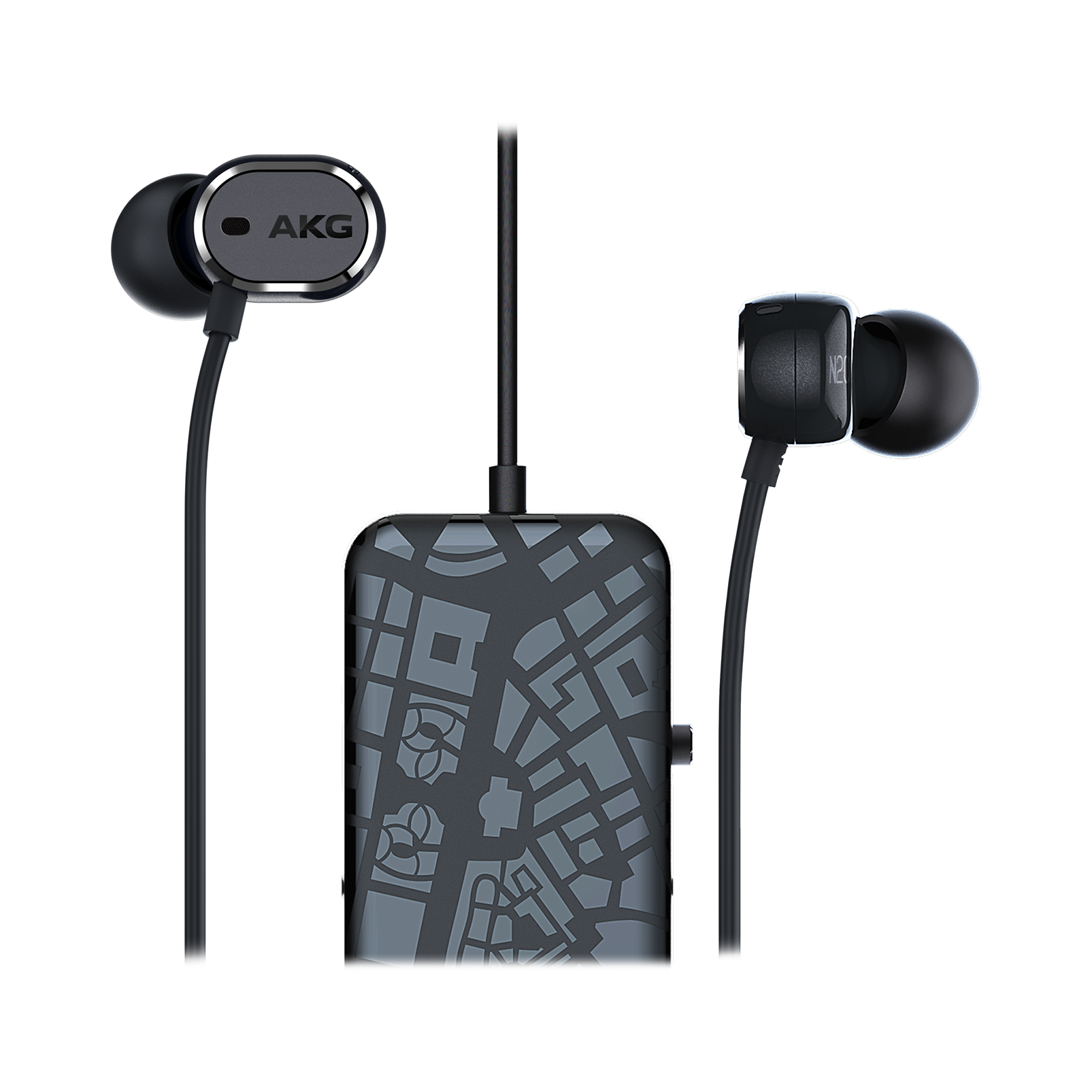 N20 NC - Black - In-ear headphones with active noise cancelling - Hero