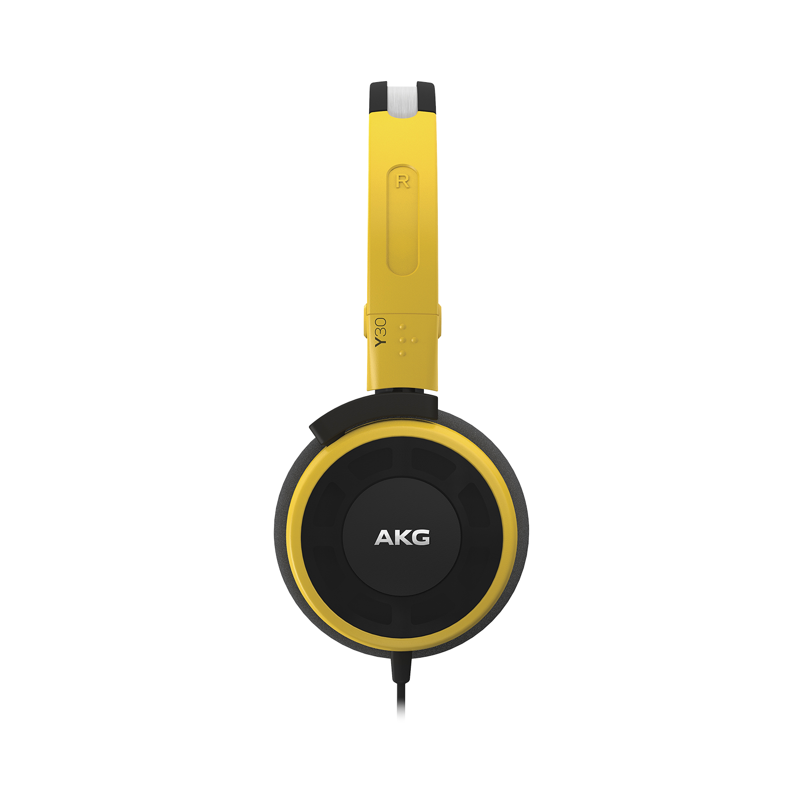 Y 30 - Yellow - Stylish, uncomplicated, foldable headphones with 1 button universal remote/mic - Detailshot 2