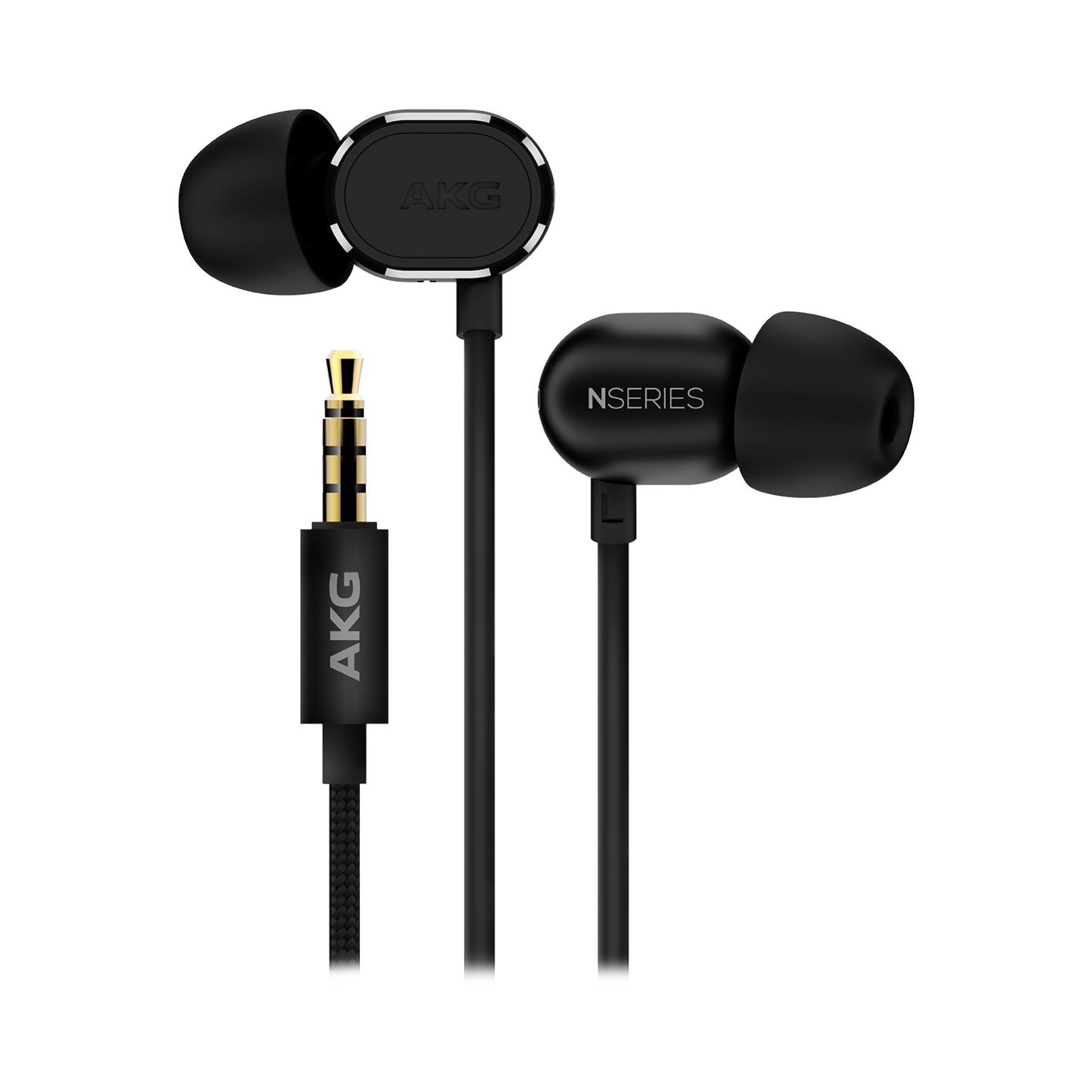 N20U - Black - Reference class in-ear headphones with universal 3 button remote. - Detailshot 1